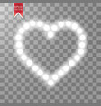 heart of the lamps on a transparent background vector image