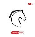 horse head icon vector image vector image