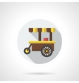 Hot drinks trolley round flat color icon vector image