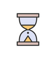 hourglass sand watch flat color line icon vector image