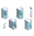 isometric glass futuristic cylindrical vector image