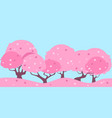 landscape pink cherry vector image