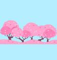 landscape pink cherry vector image vector image