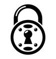 lock icon simple black style vector image vector image