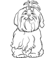 maltese dog cartoon for coloring book vector image vector image