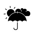 meteorology black glyph icon vector image