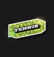 modern professional typography tennis sport retro vector image
