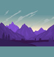 mountain landscape in flat style design element vector image
