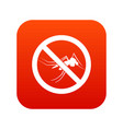 no mosquito sign icon digital red vector image vector image