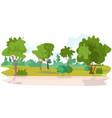 no people beautiful summer park landscape vector image vector image