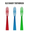 Old toothbrush vector image