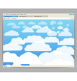Opened browser window vector image vector image