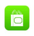 paper clips box icon digital green vector image