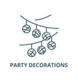 party decorations line icon linear concept vector image