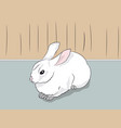 rabbit sitting in a room vector image vector image