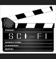 science fiction clapperboard vector image vector image