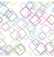 seamless geometrical square pattern background vector image vector image