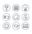 set business isolated icons vector image vector image