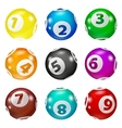 set lottery colored number balls vector image