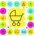 set of icons baby goods vector image