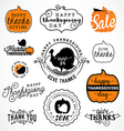 set thanksgiving calligraphic vector image vector image