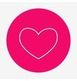 Single flat heart contour icon vector image
