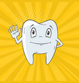 smiling tooth cartoon vector image vector image