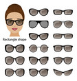 spectacle frames and rectangle face vector image