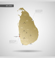 stylized sri lanka map vector image