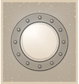 submarine window or porthole in engraving style vector image vector image