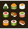 sushi set - japan cousine vector image