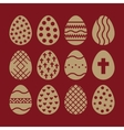 The egg and easter 12 icon Easter egg symbol UI vector image vector image