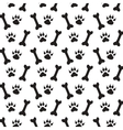 traces dog vector image