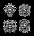 traditional balinese mask collection vector image vector image