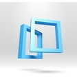 Two blue rectangular 3D frames vector image