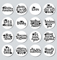 valentines day round stickers set romantic labels vector image vector image