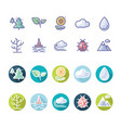 weather nature icon with long shadow vector image vector image