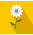 White flower icon flat style vector image vector image