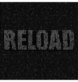 white reload code background vector image vector image