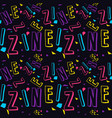 zine culture seamless pattern vector image