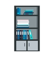 Large Bookcase with Different Books Isolated vector image