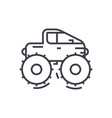 cross country vehiclejeep line icon sign vector image