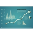 infographics charts in retro blue vector image