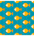 Abstract fish pattern vector image vector image