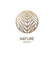 abstract floral plant logo geometric shapes vector image
