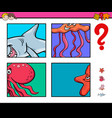 activity game with sea life animals vector image vector image