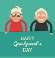 aquamarine color card with text happy grandparents vector image vector image