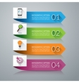 Arrow design elements for infographics vector image