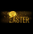 background happy easter stylized vector image