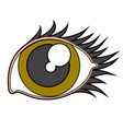 beauty eye image vector image